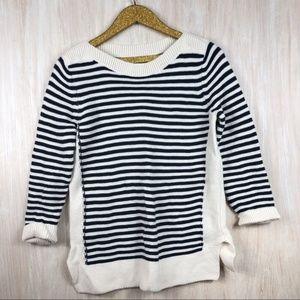 LOFT Stripe Knit Chunky Oversized Sweater